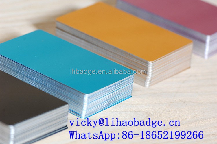 Top 8 list of anodized aluminum business cards blanks 2018 metal business card blank anodized aluminum cards view cheap metal business cards lh product colourmoves