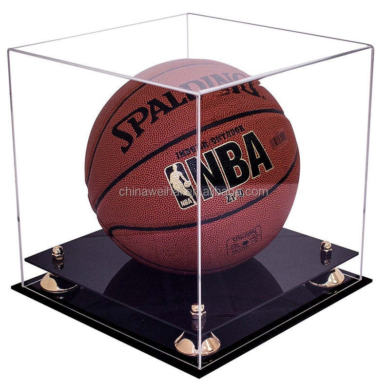 Deluxe Clear Acrylic Full Size Basketball Showcase
