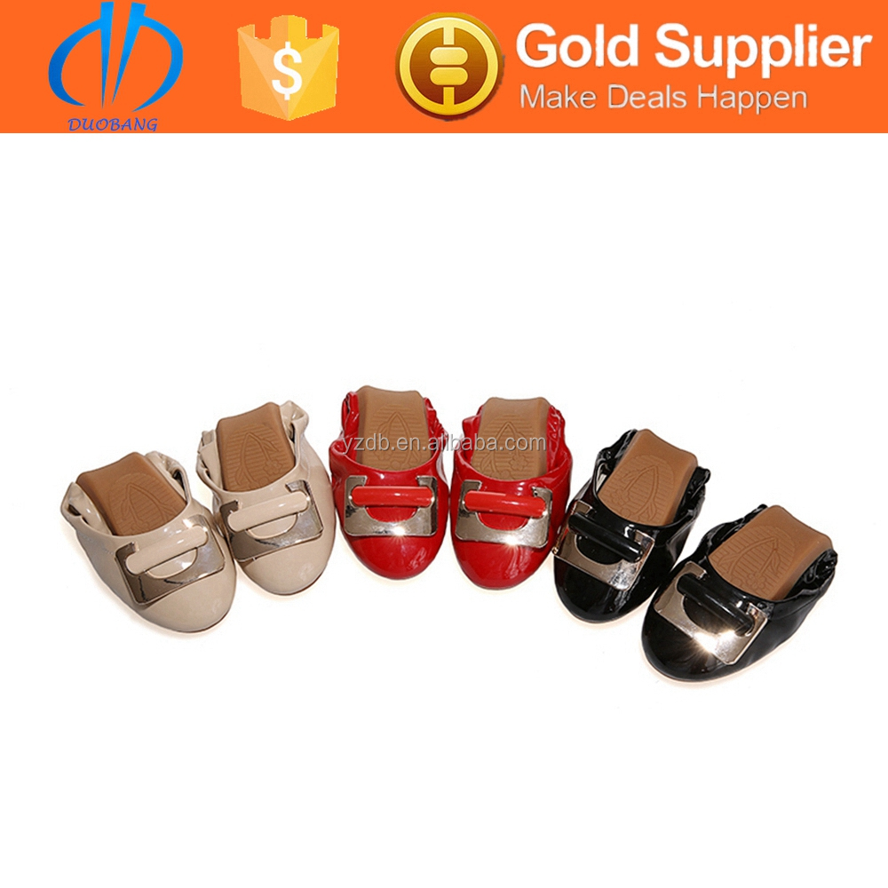 ladies fashion style ballerina folding flat shoe matching bags 2015