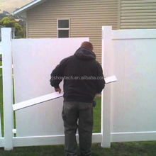 Vinyl PVC portable fence panels garden privacy fence