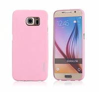2016 New matte TPU pudding soft gel skin Pink back cover case for samsung S6