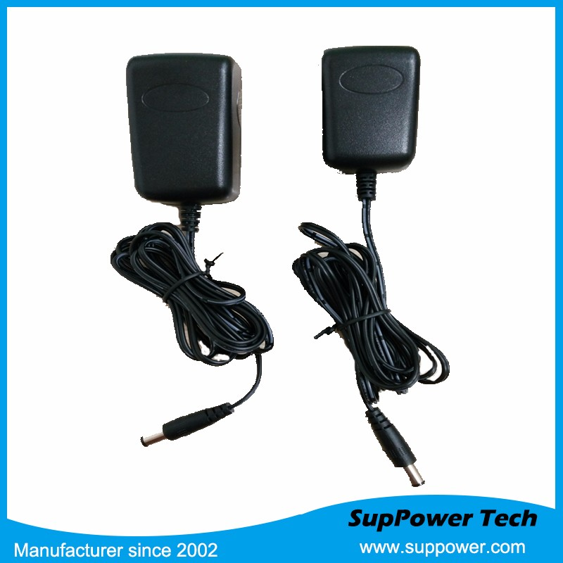 mobile phone usage adapter 7.5V 1A 7.5W US wall-mount adapter 2M dc cable with Level VI