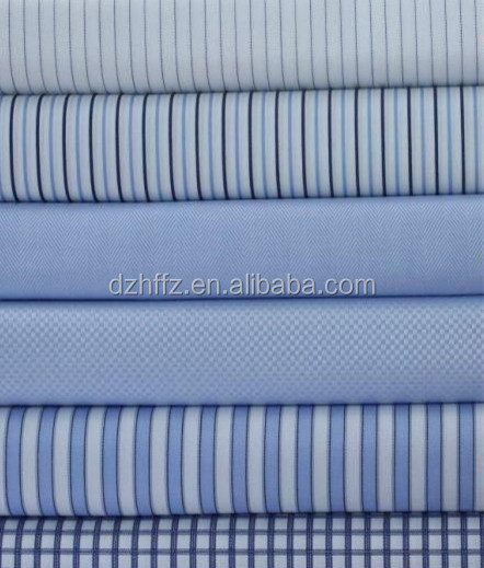 100% cotton yarn dyed stripe and check fabrics 40*40/120*80 for shirting