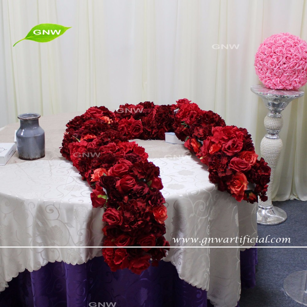 GNW FLWH1707009 The best hot selling customized large artificial hanging garlands of wedding backdrop
