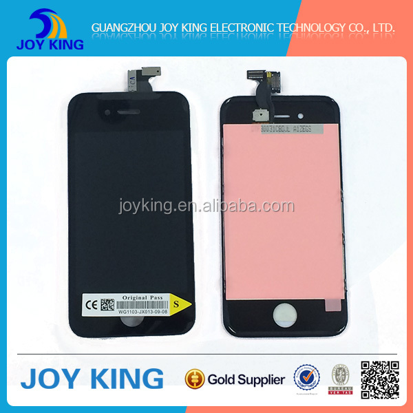 China good quality fast delivery mobile phone lcd accessories for iphone 4s lcd digitizer complete