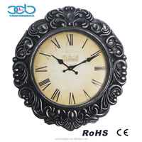 Carved Creative Artistic Retro Wall Clock