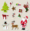 X-MAS Epoxy sticker, decorative epoxy sticker for christmas, 3D epoxy sticker