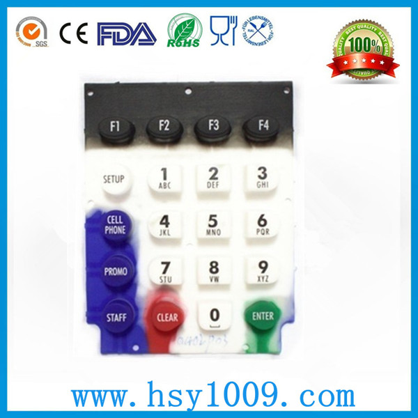 OEM high quality liquid silicone rubber membrane phone keypad