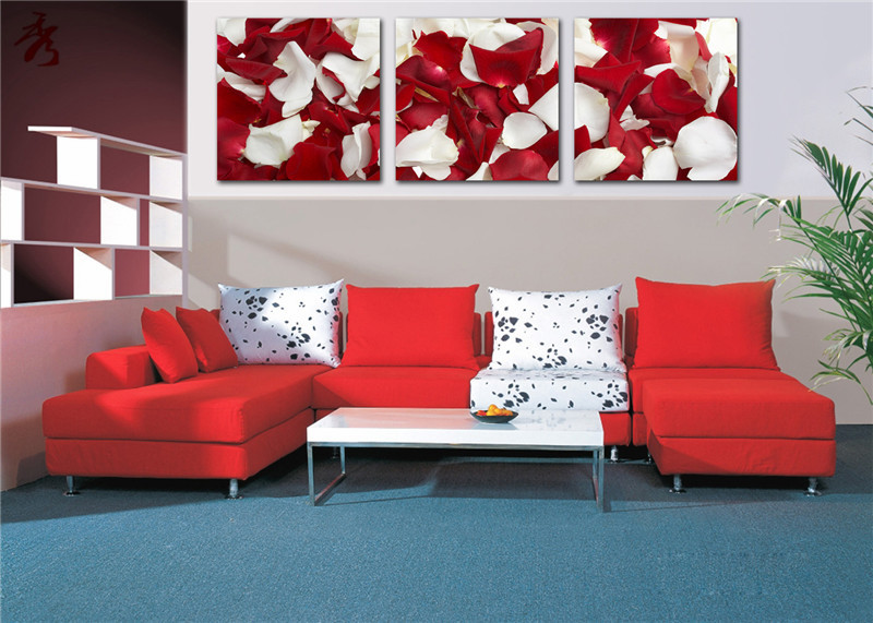 Unframed Popular Living Room Romantic Rose Petal Pictures Canvas Prints