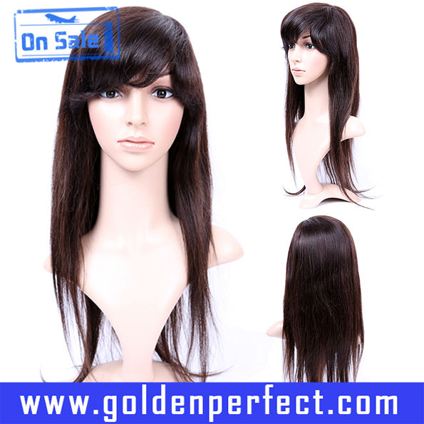 With Baby Hair Natural Straight Cheap Brazilian Hair Lace Front Wig