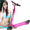 "Aluminum alloy portable folding carbon fiber electric scooter with 8"" pneumatic tire"