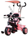 2014 fashionable style good design children tricycle three wheels hot sale baby toys kids bike kids model tz-010 pink colour