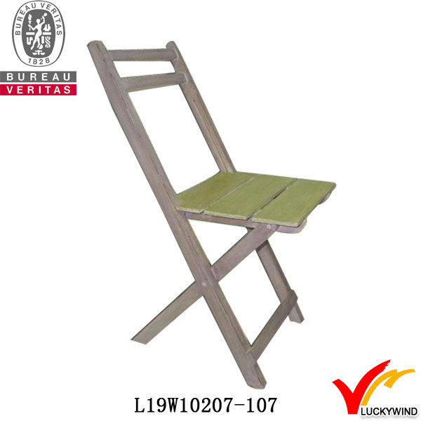 Unique Rustic Antique Wood Portable Floor Folding Chair