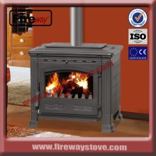 European wood burning cast iron stove