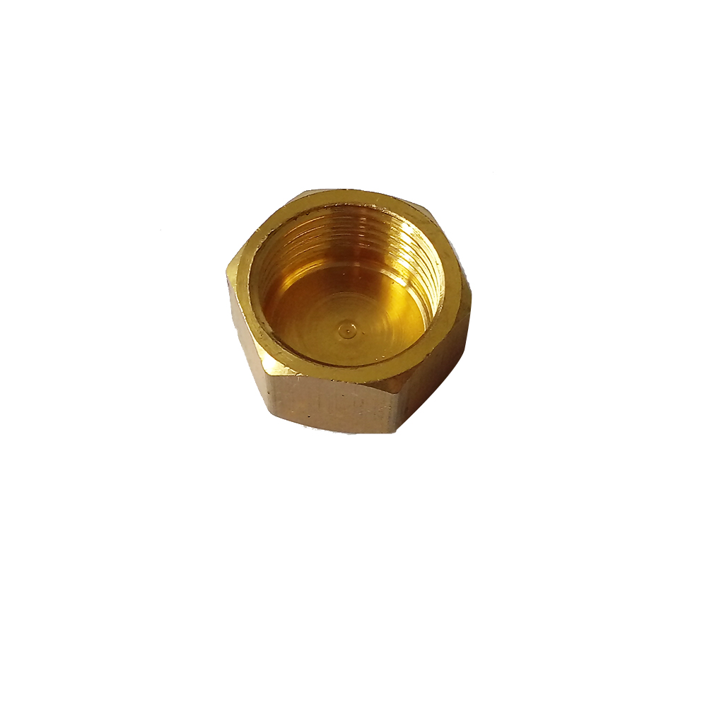 "1/8"" Female NPT Brass Pipe Fitting Hex Head Female Thread Cap"