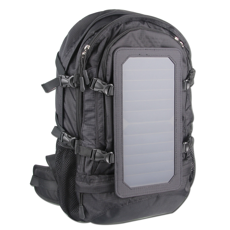 Solar bag 6.5W Powered Backpack with Battery Portable Solar Charger Camping Bag