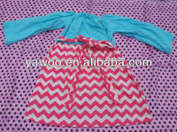 2013Hot Sale!Baby Girls Cotton Chevron Dress Lovely Long Sleeve Christmas Dress For Kids Wholesale Chevron Girls Dress With Belt