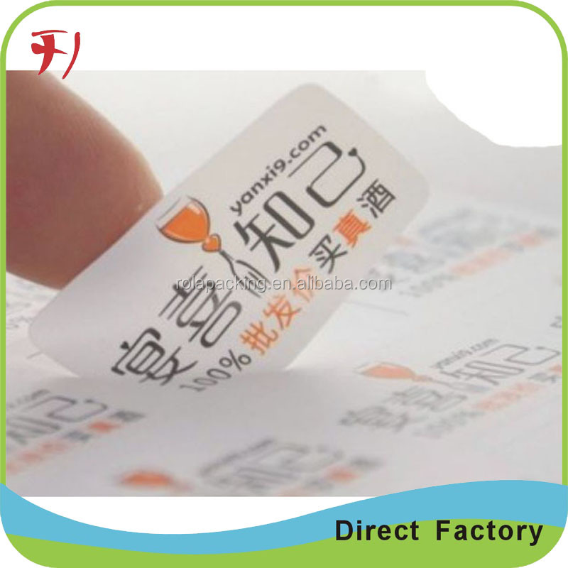 Custom White Ultra Destructible Vinyl Labels,Eggshell Paper For Tamper Evident Sticker,Destructive