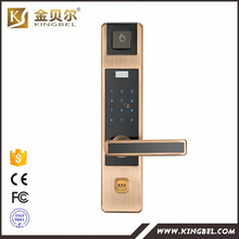 Touchscreen Door Sensor Lock By Fringerprint Password and RFID card and machine key
