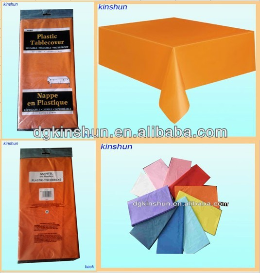 "PE various colors banquet fitted table cover 54""*108"""