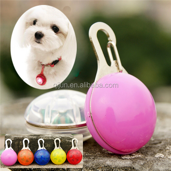 Fashion Accessories Waterproof Dog Safety Light LED Dog Tag
