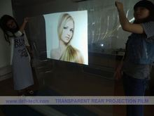mirror advertise opal rear projection film or foil window display