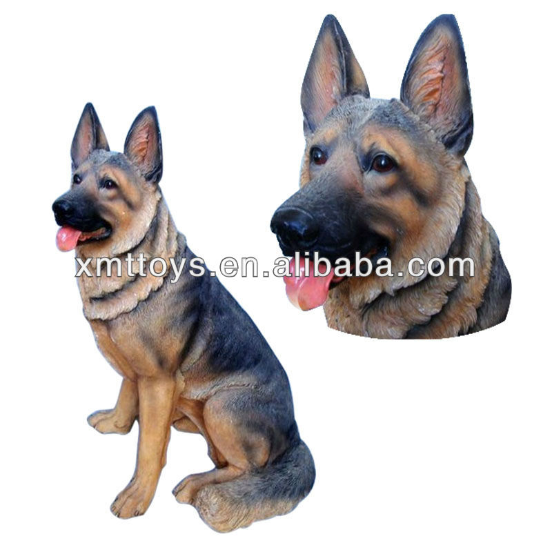 glass fiber wolf dog statue for home decoration