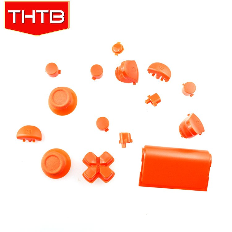 Matte Orange with full set button for ps4 controller replacement shell