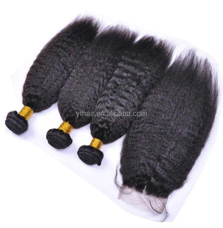 Wholesale price fast shipping high quality kinky curly straight yaki human hair weave