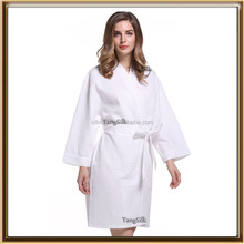 wholesale supply waffle weave white color robe