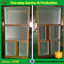 Customized design POP wooden quilt display cabinets, free standing display rack, display racks and stands