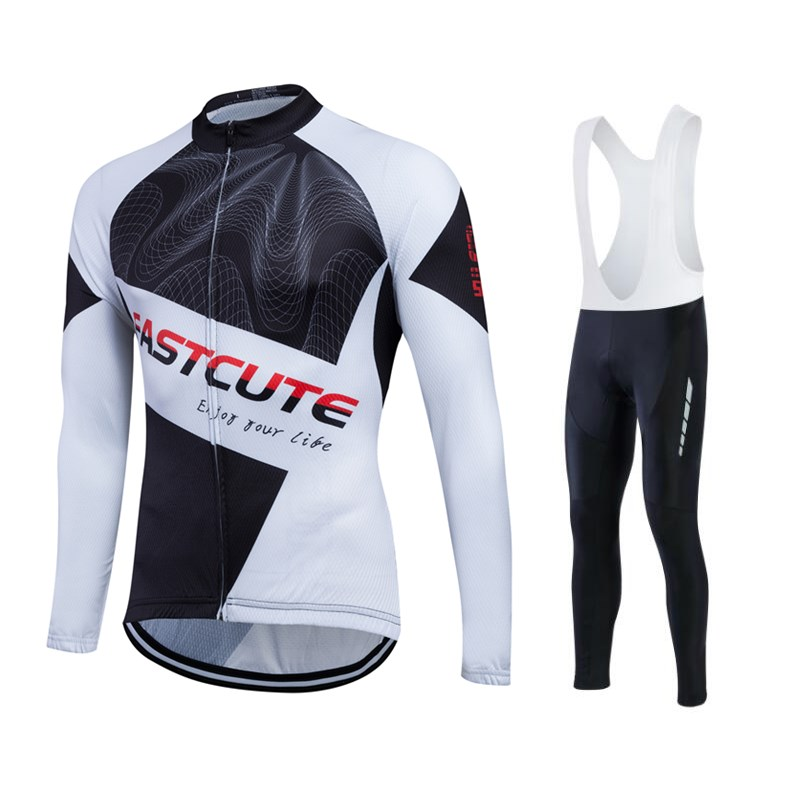 Fastcute <strong>Cycling</strong> Men Elastic BicycleJersey Fashion Pattern Sportswear Breathable Outdoor Riding Uniform Ropa Ciclismo
