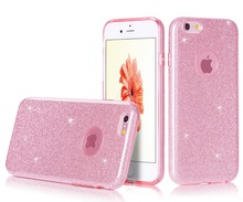 2016 Funky Product Soft TPU+PC Bling Case Colorful Soft Mobile Phone Case For iPhone 6S 4.7