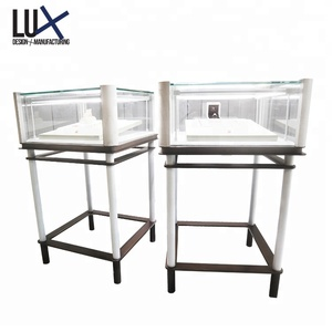 2018 Customized Trade shows steel glass portable jewelry display cases for sale