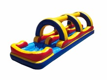 Backyard child inflatable pool slip n slide with pool SP-SS001