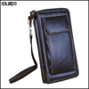 Latest india genuine men leather wallet with phone case