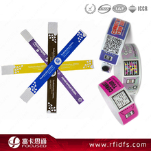 NFC disposable paper rfid wristband for concert