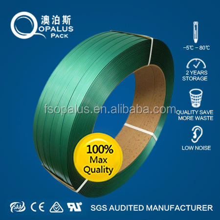 Green PET strapping lashing