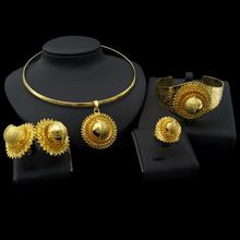 Ethiopian 24K Gold Plated Traditional Jewelry Set