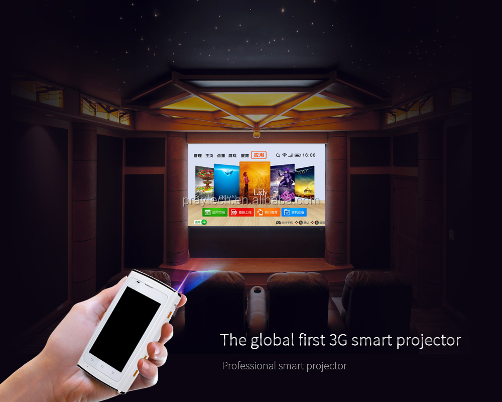 led Projector I18 High performance than pico Projector,WIFI/480*800,HDMI business/school/Home theater beamer