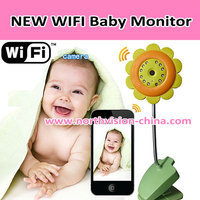 Wholesale baby video monitor with viewing by Ipad, iphone, Android smart phone function and built-in 12pcs IR
