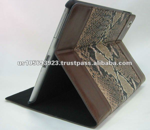 Crocodile skin design leather case for ipad3 &2.