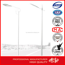 10 meters Single Arm Outdoor Lighting Post , Street Lighting Pole with Galvanization and Powder Coated