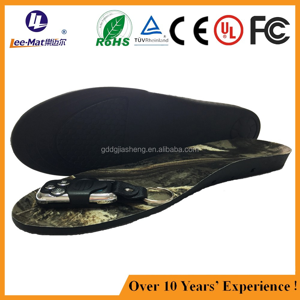 Battery operated heated pad rechargable heating insole