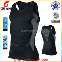Slim fit Compression mans sport sleeveless dry fit top
