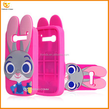 hot selling cute rabbit silicon soft back cover case for alcatel one touch pop c5