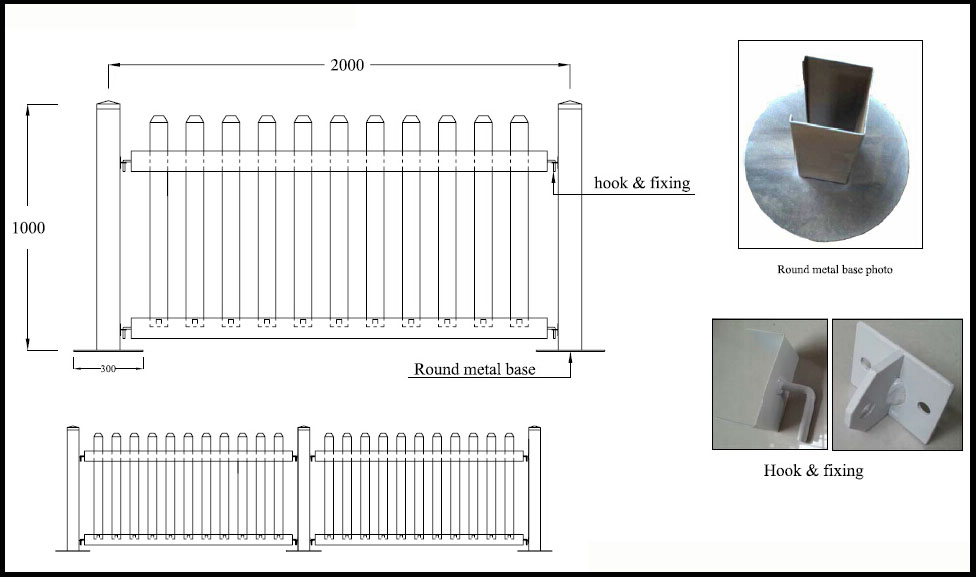 Fentech Widely Used Pvc/Vinyl/Plastic Temporary Fence