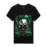 100% cotton t-shirt manufacturer,hip hop clothing,skull t-shirt