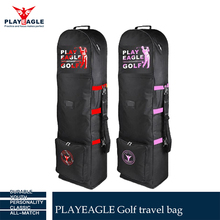 PLAYEAGLE Folding Travel golf bag with wheels Nylon waterproof Golf Travel Bag Cover,OEM Logo Golf Air Bags