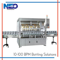 Neostarpack Machinery Automatic 8 Heads Gear Pump nail polish filling machine. (cosmetics, chemical, pharmaceutical industry)